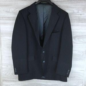 Navy Pinstripe Suit Jacket